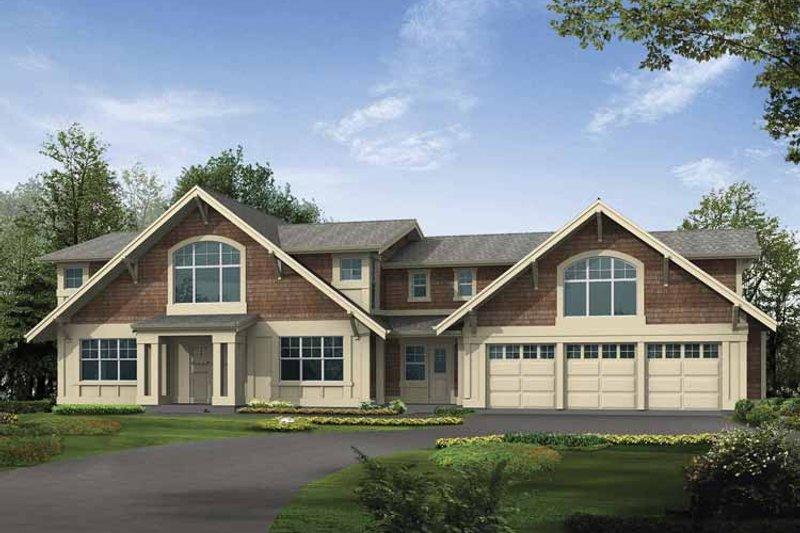 House Plan Design - Craftsman Exterior - Front Elevation Plan #132-496