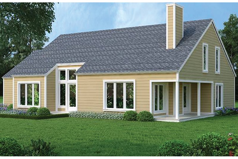 Traditional Exterior - Rear Elevation Plan #45-473 - Houseplans.com
