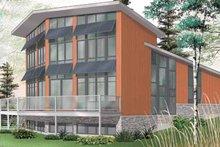 Architectural House Design - Contemporary Exterior - Rear Elevation Plan #23-2460
