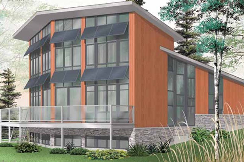 Contemporary Exterior - Rear Elevation Plan #23-2460 - Houseplans.com