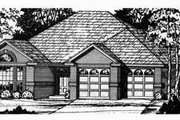 Traditional Style House Plan - 3 Beds 2 Baths 1347 Sq/Ft Plan #40-193 Exterior - Front Elevation