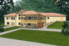 Dream House Plan - Traditional Exterior - Front Elevation Plan #117-329