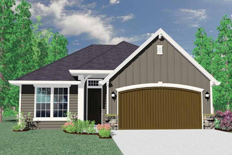 Country Exterior - Front Elevation Plan #509-211