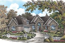European Exterior - Front Elevation Plan #929-921