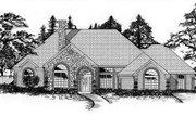 European Style House Plan - 4 Beds 3 Baths 2560 Sq/Ft Plan #62-115