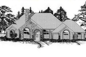 Architectural House Design - European Exterior - Front Elevation Plan #62-115
