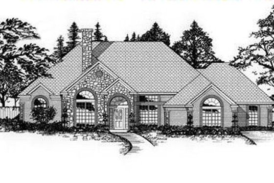 European Exterior - Front Elevation Plan #62-115