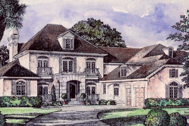 Mediterranean Exterior - Front Elevation Plan #417-796 - Houseplans.com