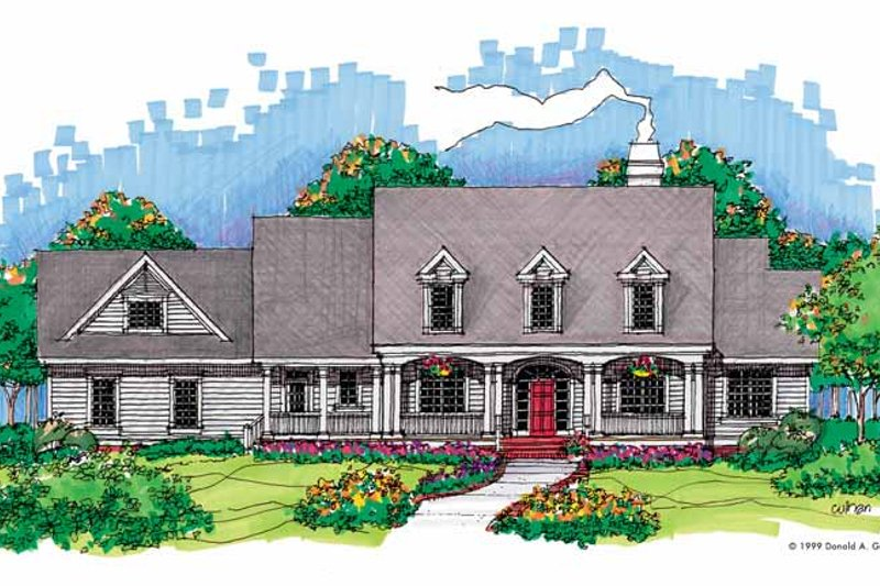 Home Plan - Classical Exterior - Front Elevation Plan #929-436