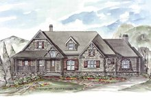 Craftsman Exterior - Front Elevation Plan #54-257