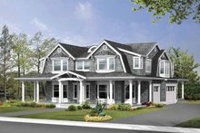 Architectural House Design - Country Exterior - Front Elevation Plan #132-498