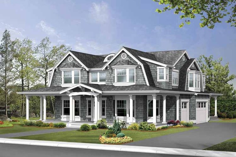 Country Exterior - Front Elevation Plan #132-498 - Houseplans.com