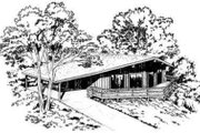 Contemporary Style House Plan - 3 Beds 2 Baths 1040 Sq/Ft Plan #312-507