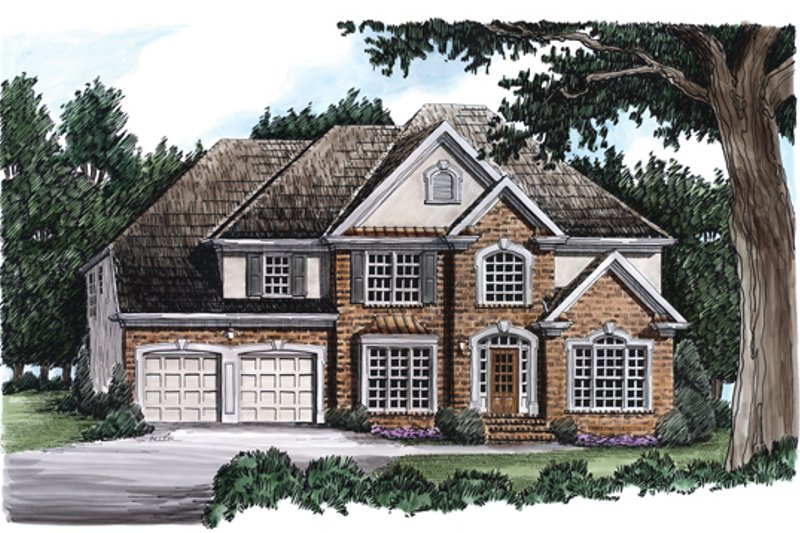 Country Exterior - Front Elevation Plan #927-83