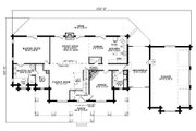Log Style House Plan - 4 Beds 4.5 Baths 4885 Sq/Ft Plan #17-516 Floor Plan - Main Floor Plan