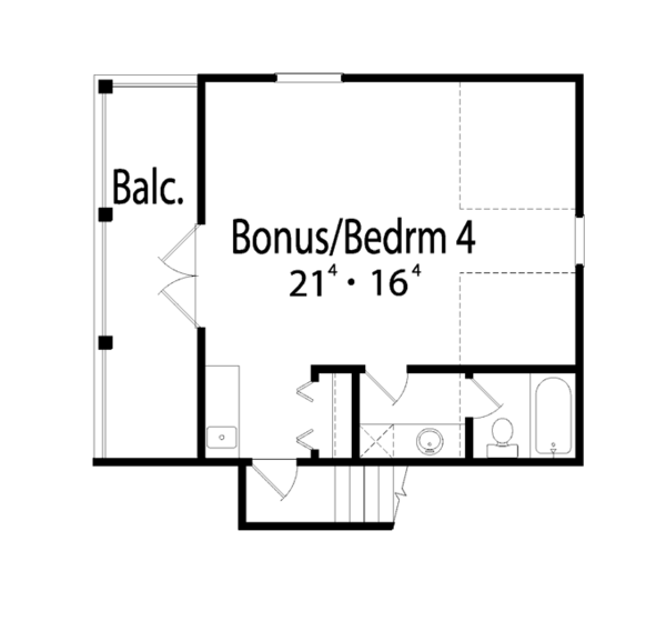 Mediterranean Floor Plan - Upper Floor Plan Plan #417-747