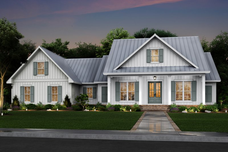 Farmhouse Exterior - Front Elevation Plan #430-218
