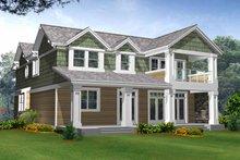 House Plan Design - Craftsman Exterior - Rear Elevation Plan #132-243