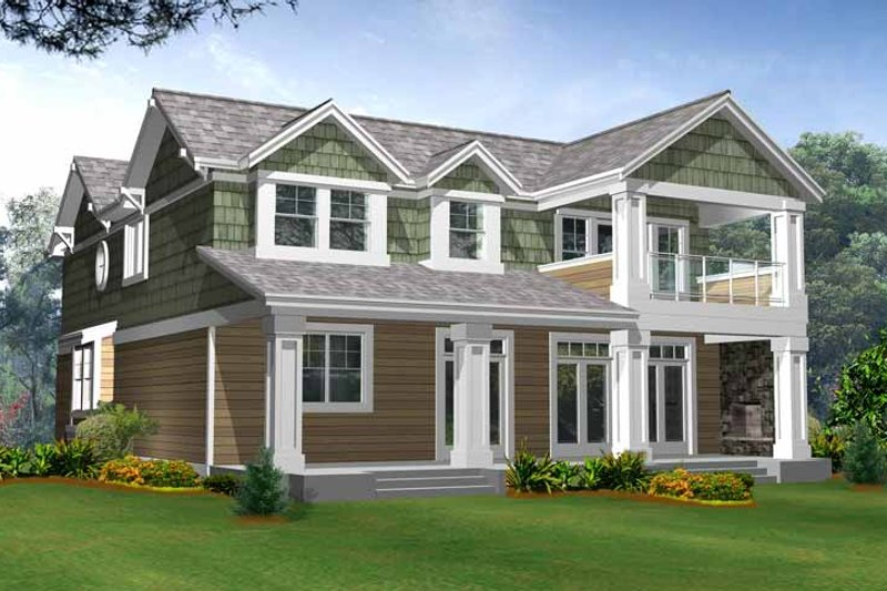 Craftsman Exterior - Rear Elevation Plan #132-243 - Houseplans.com