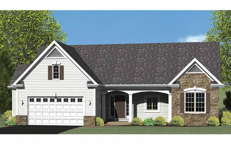 Ranch Exterior - Front Elevation Plan #1010-24 - Houseplans.com