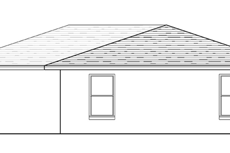 Ranch Exterior - Rear Elevation Plan #1058-74 - Houseplans.com
