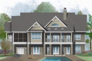 Ranch Style House Plan - 4 Beds 3 Baths 2960 Sq/Ft Plan #929-1048 Exterior - Rear Elevation