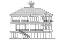 Architectural House Design - Mediterranean Exterior - Rear Elevation Plan #1017-154
