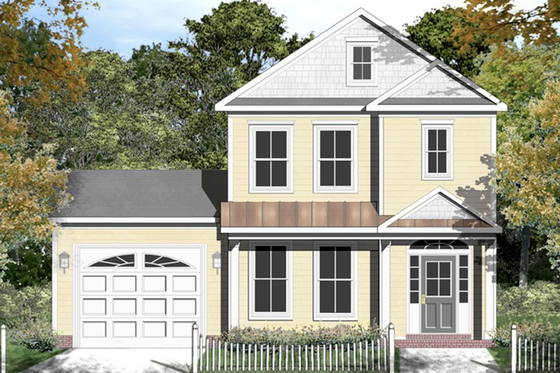 Colonial Exterior - Front Elevation Plan #1053-46