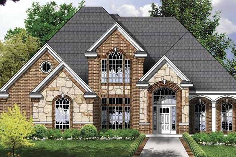 Traditional Exterior - Front Elevation Plan #40-491