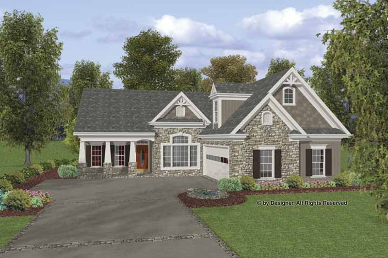 Craftsman Exterior - Front Elevation Plan #56-692