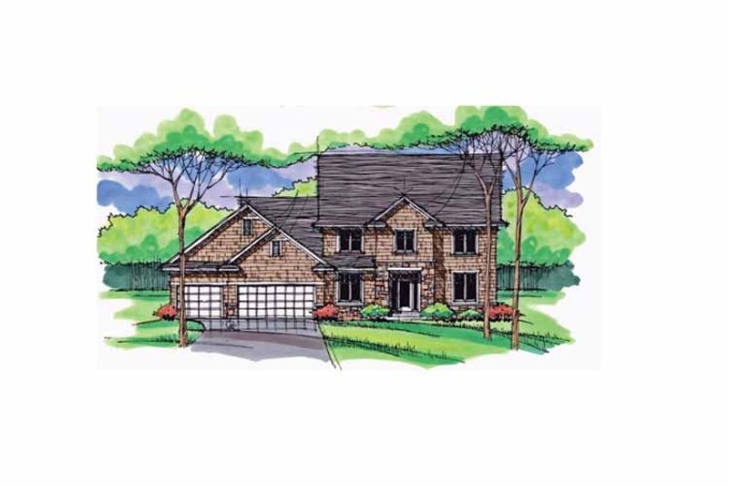 Colonial Exterior - Front Elevation Plan #51-1025 - Houseplans.com