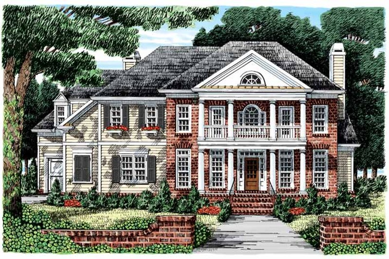 Classical Exterior - Front Elevation Plan #927-856