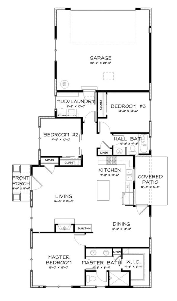 Craftsman Floor Plan - Other Floor Plan Plan #895-79