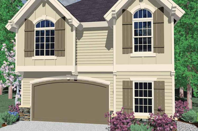 Craftsman Exterior - Front Elevation Plan #509-254