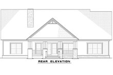 Country Exterior - Rear Elevation Plan #923-70