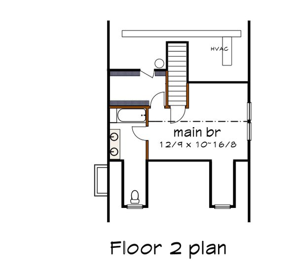 Traditional Floor Plan - Upper Floor Plan #79-148