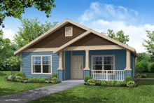 Cottage Exterior - Front Elevation Plan #124-309