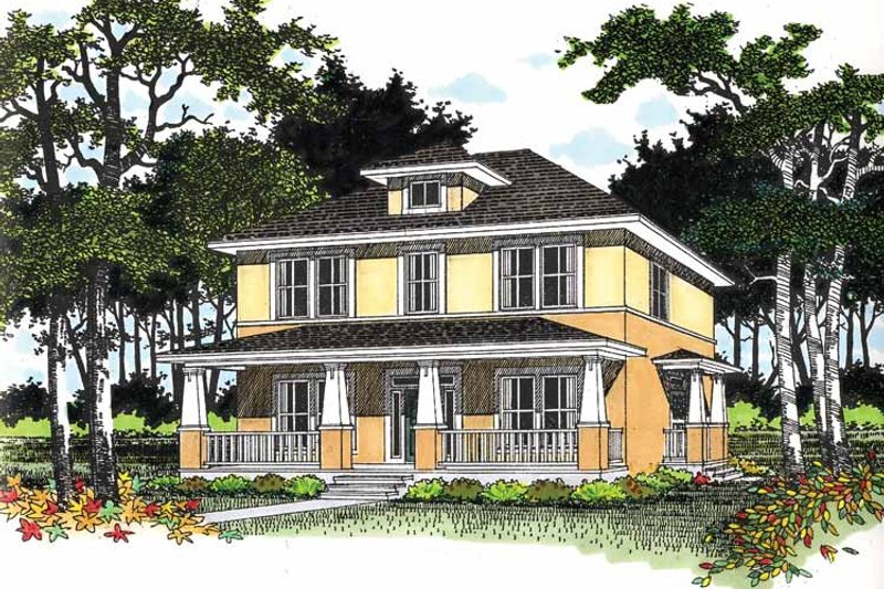 Craftsman Exterior - Front Elevation Plan #472-184 - Houseplans.com