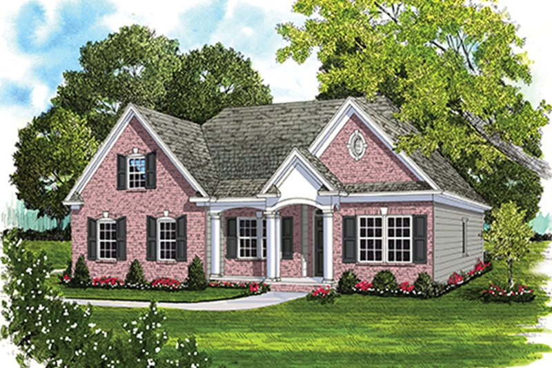 Ranch Exterior - Front Elevation Plan #453-632