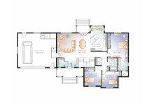 Country Floor Plan - Main Floor Plan Plan #23-2516