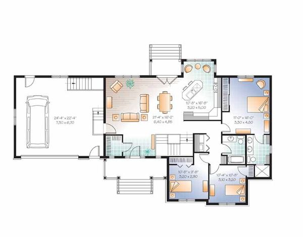 Country Floor Plan - Main Floor Plan Plan #23-2516