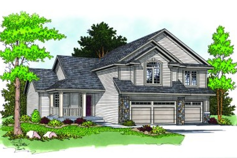 Traditional Exterior - Front Elevation Plan #70-381