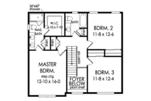 Colonial Floor Plan - Upper Floor Plan Plan #1010-198