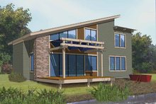Architectural House Design - Contemporary Exterior - Front Elevation Plan #569-9