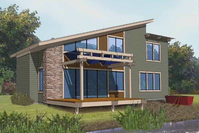Contemporary style house plan 3 beds 2 baths 1375 sq ft for Modern sip house plans