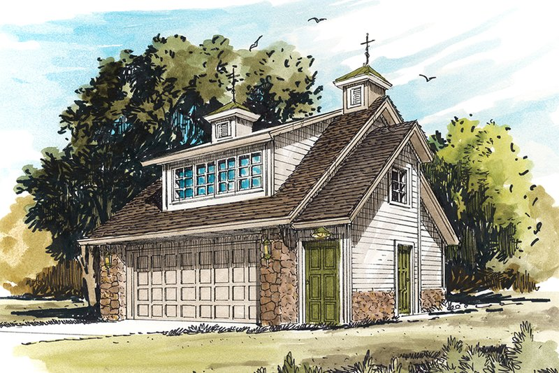 Traditional Exterior - Front Elevation Plan #942-53