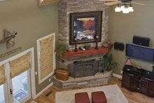 Architectural House Design - Country Interior - Family Room Plan #17-3266