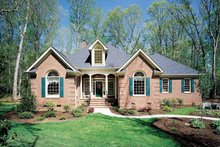 Country Exterior - Front Elevation Plan #929-153