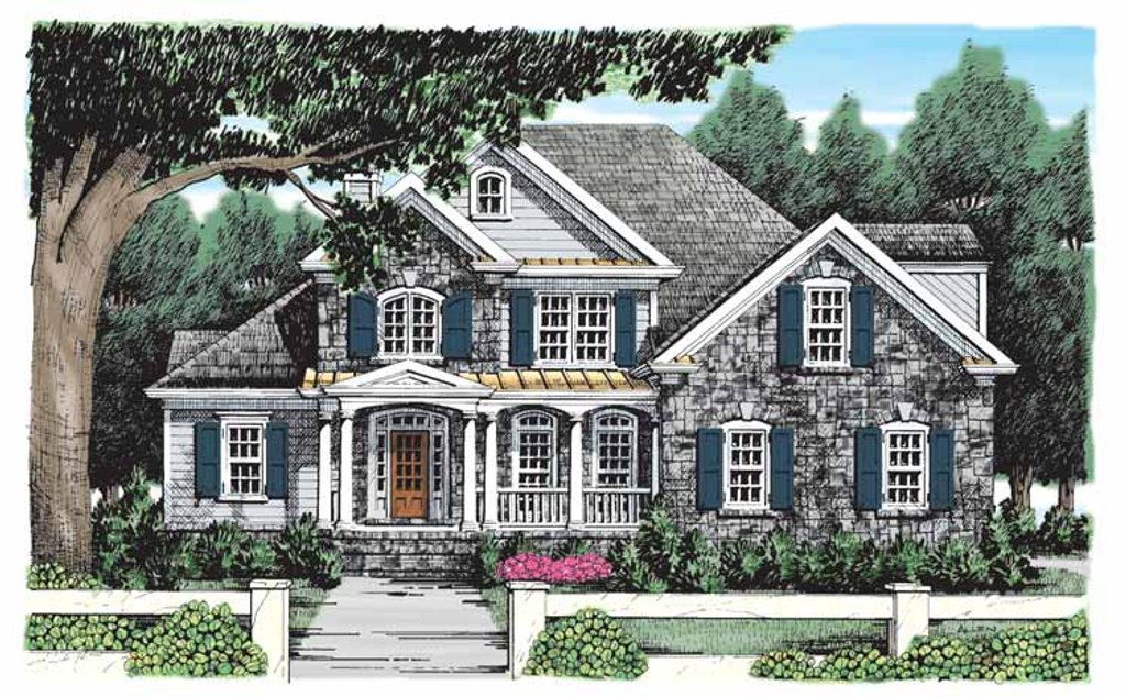 Country Style House Plan - 4 Beds 3 Baths 2687 Sq/Ft Plan ... on low country house plan, french style house floor plan, southern living centennial house plan, country homes open floor plan,