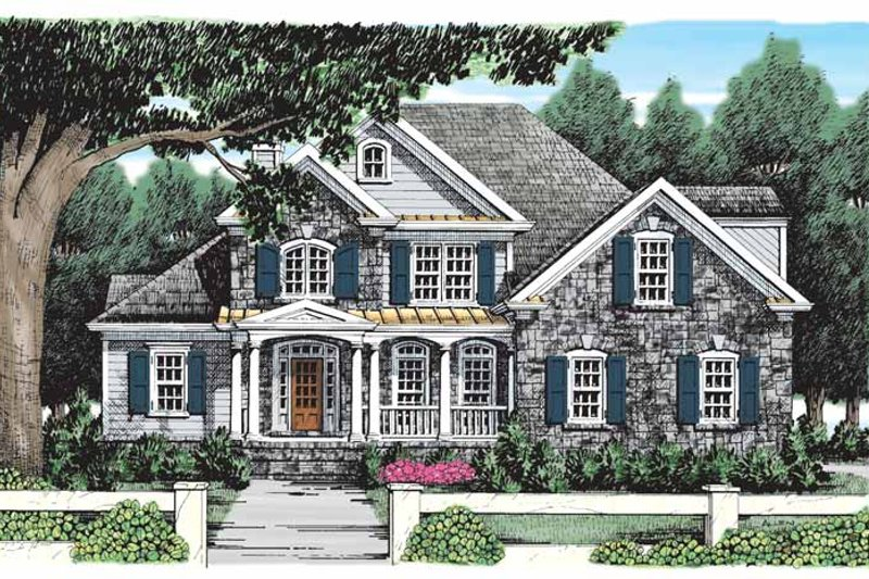 Home Plan - Country Exterior - Front Elevation Plan #927-695